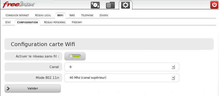 Configurer le wifi de sa Freebox V6 (Revolution)