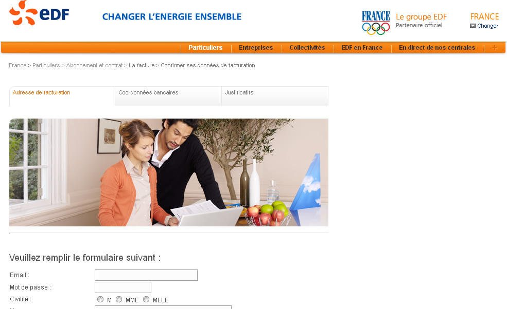 Ceci n'est pas le site EDF, mais une copie frauduleuse.