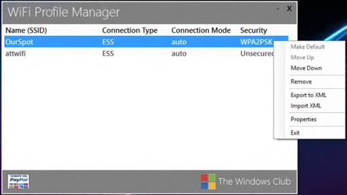 Capture d'cran de WiFi Profile Manager 8
