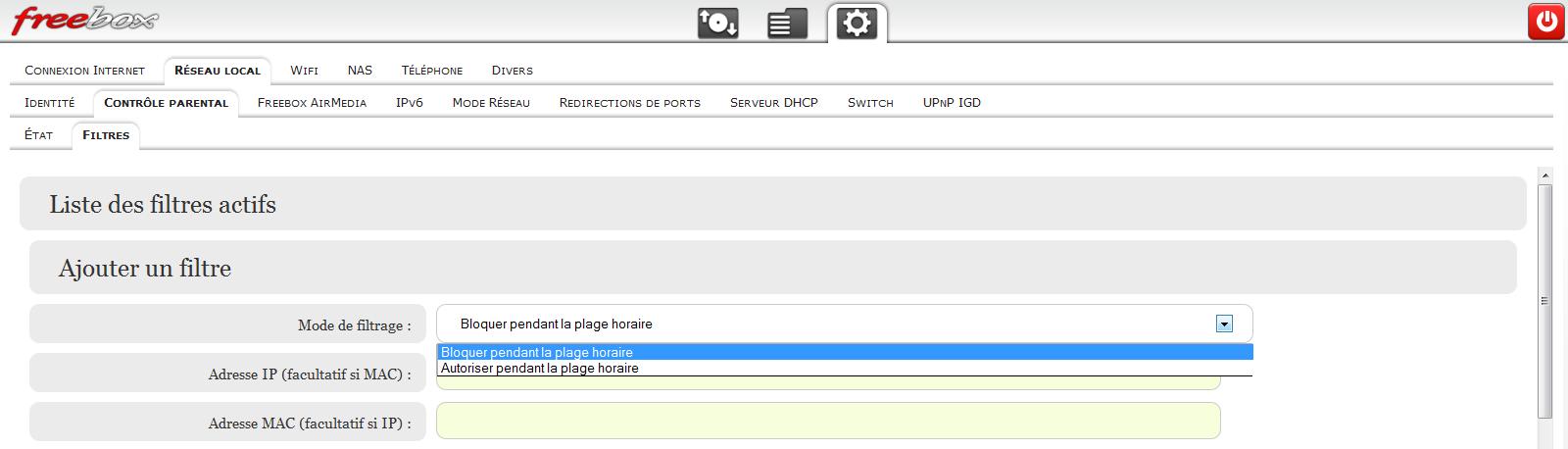 Freebox V6 Comment Restreindre L Acces Internet De Facon Ciblee