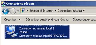 Modifier les paramètres de la carte réseau sous Windows 7/ Vista