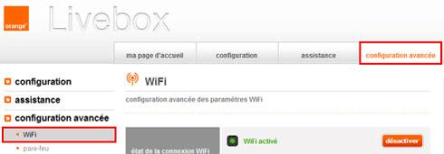 Désactiver le Wi-Fi dans l'interface de la Livebox ZTE