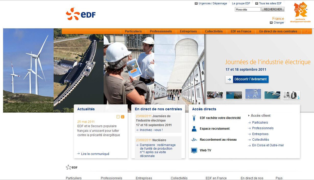 Dernière étape : il est trop tard, l'internaute piégé est redirigé vers le site EDF officiel