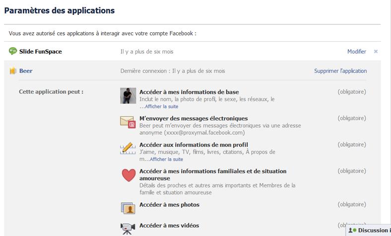 Supprimer les applications malveillantes sur Facebook