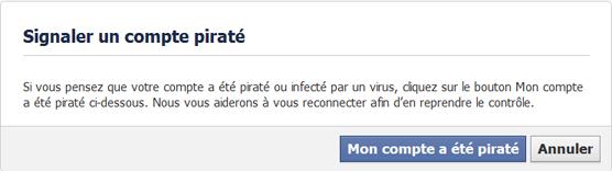 Dénoncer le piratage de son compte Facebook
