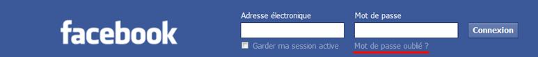 Facebook : j'ai oublié mon mot de passe