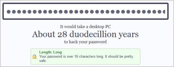 En revanche, un mot de passe long donne du fil à retordre aux hackers