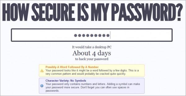 Un mot de passe court est trop facile à cracker