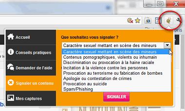 Aperçu du bouton Net Ecoute sur Google Chrome, et des services proposés pour protéger son enfant des dangers du web
