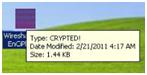 Le virus modifie l'extension et l'icône de tous les fichiers rencontrés
