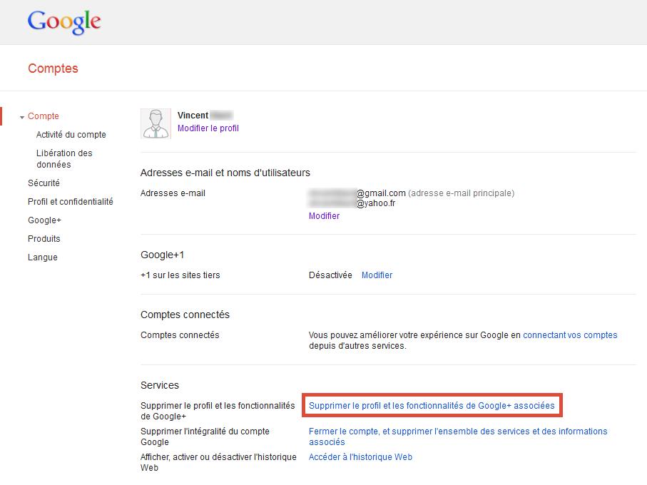 Comment accéder aux paramètres de mon compte Google