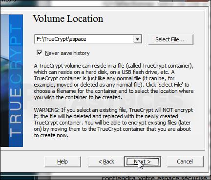 Comment créer un espace sécurisé sur une clé USB avec TrueCrypt