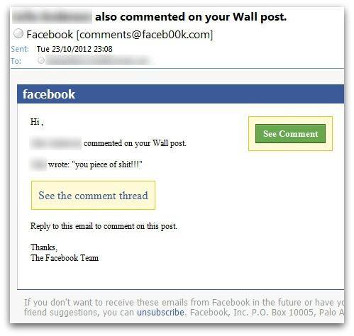 Ceci n'est pas un vrai message Facebook