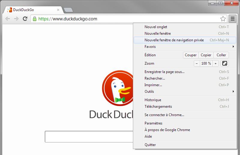 Comment activer la navigation privée sous Google Chrome