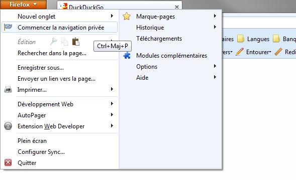 Comment activer la navigation privée sous Firefox