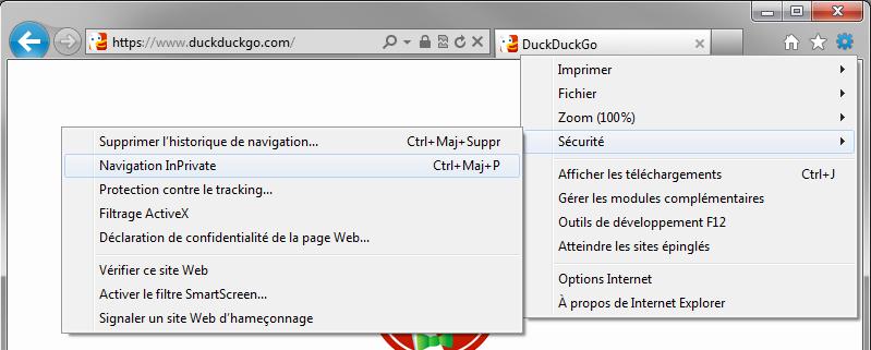 Comment activer la navigation privée sous Internet Explorer