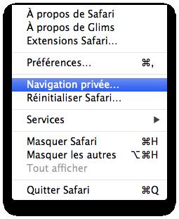 Comment activer la navigation privée sous Safari