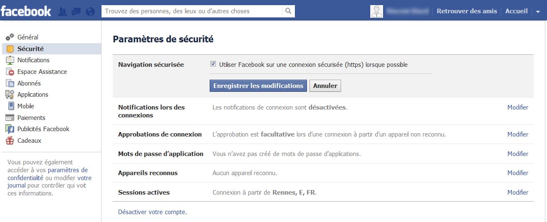 En attendant la généralisation du HTTPS sur Facebook, voici comment l'activer dans les paramètres de votre compte