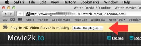 Le navigateur demande l'installation d'une extension : vérifiez bien si elle n'est pas malicieuse
