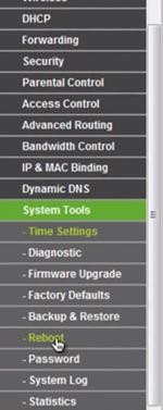 Comment valider les changements de configuration et redémarrer le routeur TP Link