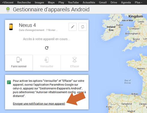 Activer le gestionnaire d'appareils Android depuis son compte Google / Gmail