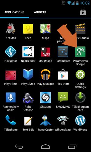 """Comment accéder à l'application """"Paramètres Google"""" sous Android"""