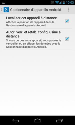 Comment activer la géolocalisation d'un appareil Android, ainsi que la possibilité de le verrouiller ou réinitialiser à distance
