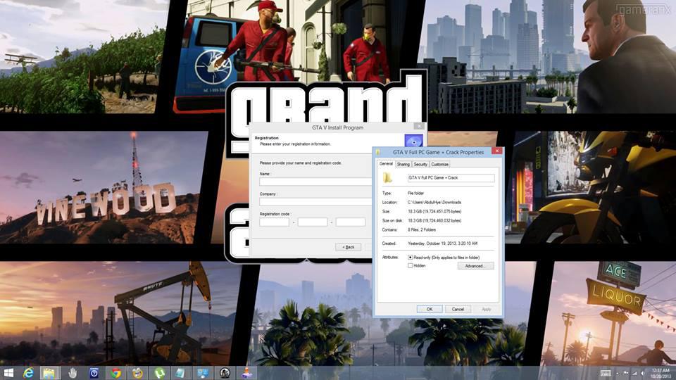 Contrairement aux apparences, il ne s'agit pas de l'installation de GTA 5 sur PC, mais bel et bien de l'exécution de logiciels malveillants...