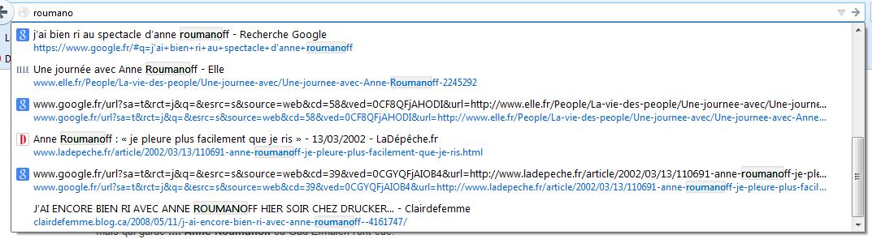 Non mais c'est pas moi, c'est ma soeur, elle kiffe Anne Roumanoff