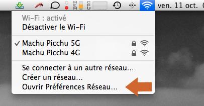 Comment accéder aux Préférences Réseau sous OS X