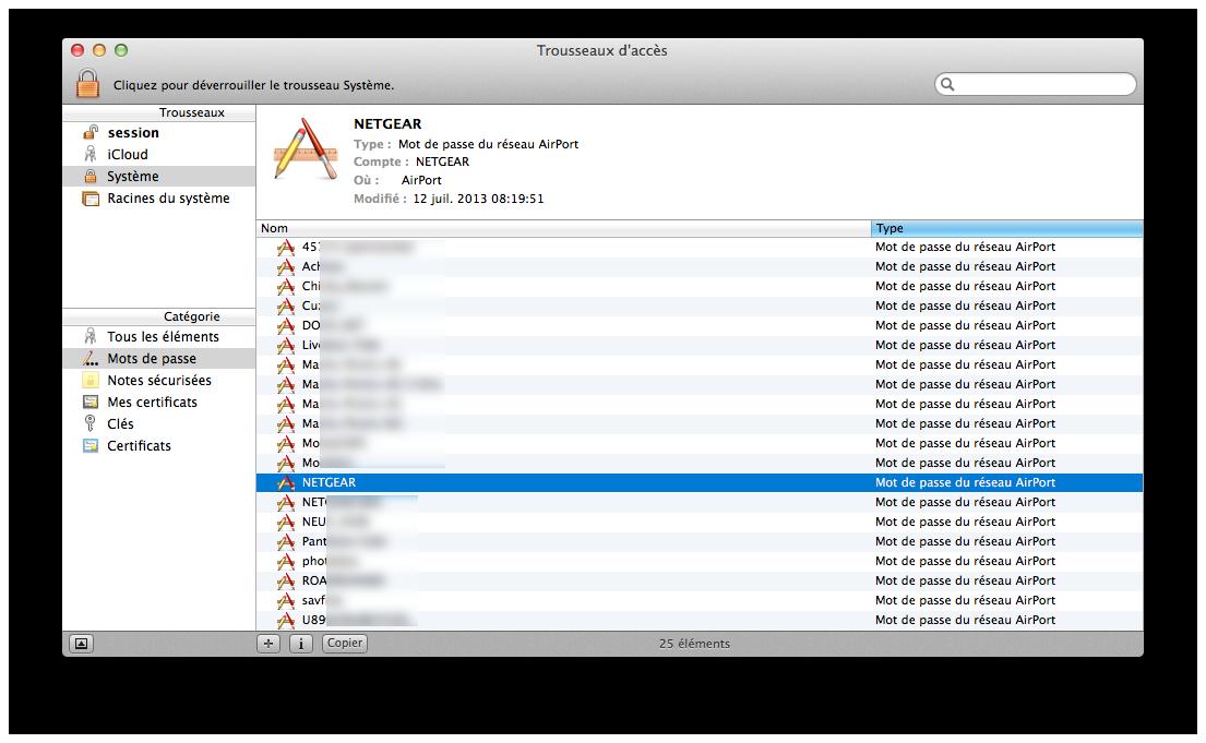 Comment trouver les mots de passe AirPort sous OS X