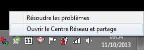 comment ouvrir le centre Réseau et Partage sous Windows