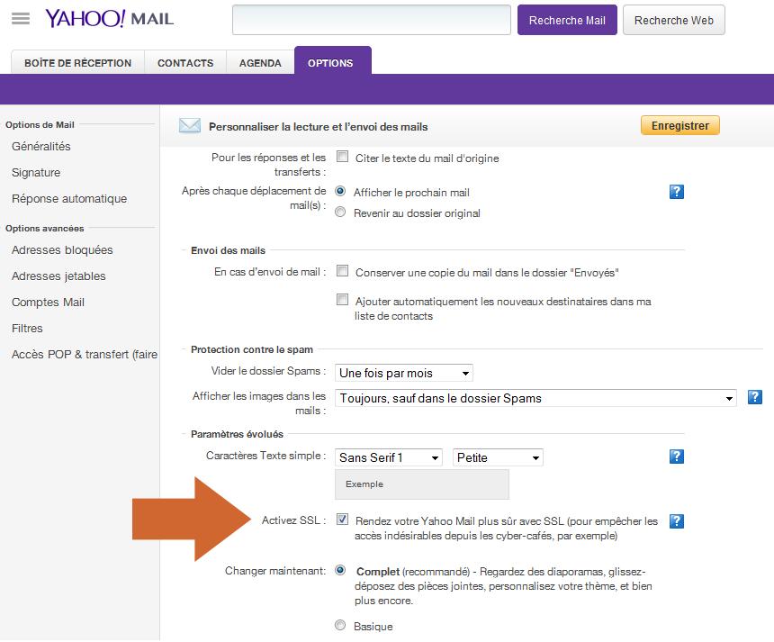 Comment activer la connexion chiffrée par SSL sur Yahoo pour sécuriser l'accès à son compte personnel