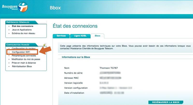 Comment accéder aux réglages Wi-Fi d une Bbox B You (Thomson TG787) 5961f1874bb9