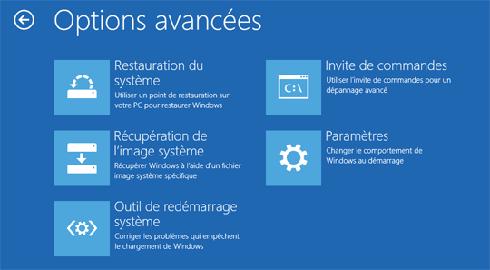 Pour réinstaller Windows 8 depuis votre image système, sélectionnez