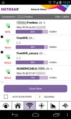 Consulter la liste détaillée des réseaux WiFi à portée