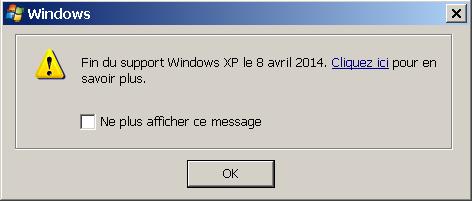 Ayé, c'est officiel, Windows XP se meurt...