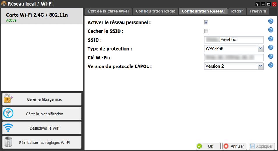 Comment sécuriser sa clé WiFi sur Freebox V6