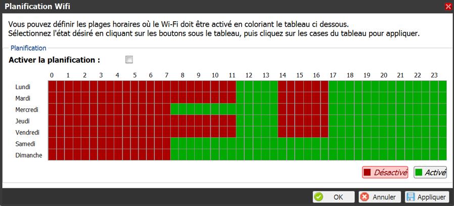 Comment configurer les horaires et jours d'accès WiFi sur Freebox V6 (Révolution)