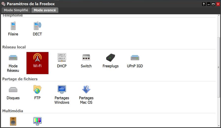 Comment accéder aux paramètres WiFi de la Freebox V6