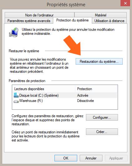 Comment accéder à la restauration du système sous Windows 8