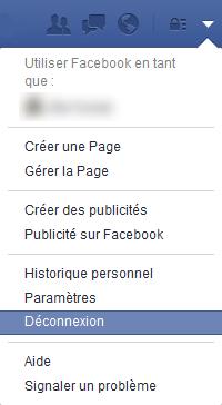 Comment de déconnecter de sa session (compte) sur Facebook