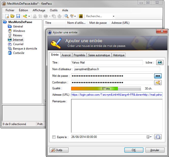 Comment enregistrer ses mots de passe avec le logiciel KeePass
