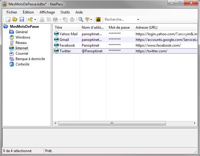 Aperçu de logiciel KeePass