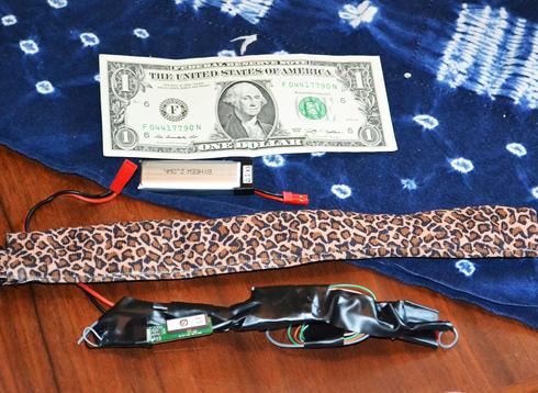 Quelques composants électroniques, un beau tissu léopard, et le tour est joué !