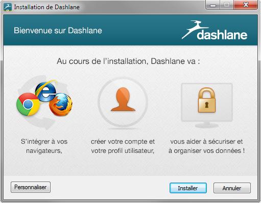 L'installation de Dashlane peut prendre un peu de temps, mais reste très simple