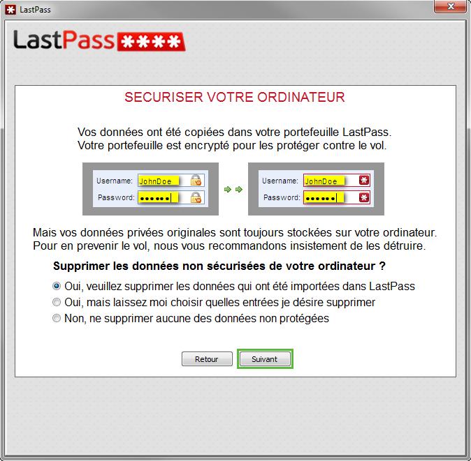 LastPass peut supprimer tous les mots de passe enregistrés dans les navigateurs