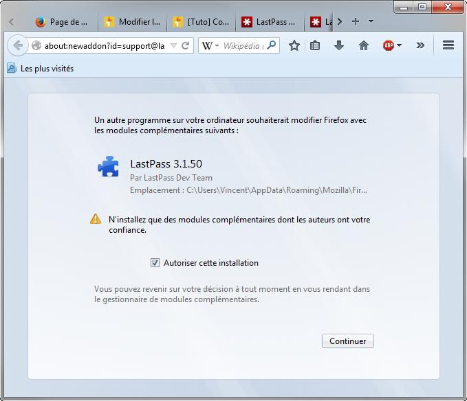 L'intérêt de LastPass réside surtout dans l'extension qui s'intègre au navigateur