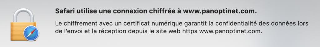 Information synthétique sur un certificat SSL